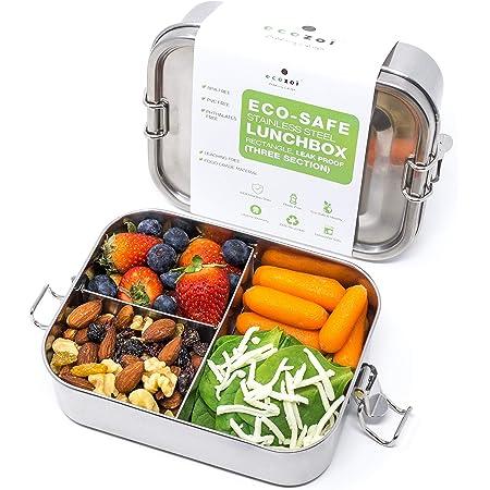 Edelstahl isolierte 3 Tier Bento Lunch Box Vakuumdichtung Tiffin Green