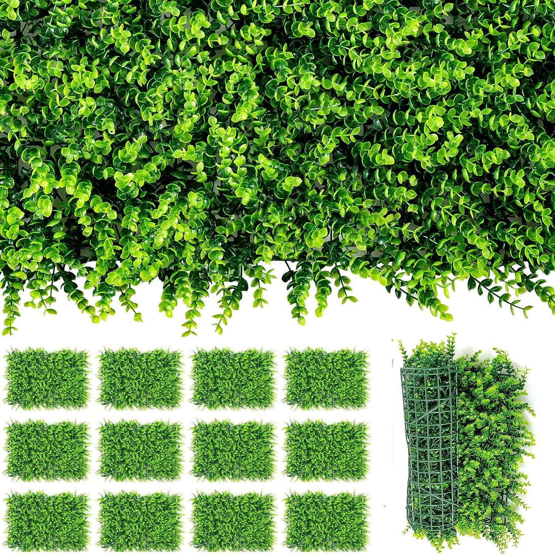 Giantex 12PCS 24x16inch Artificial 直営限定アウトレット Privacy Garden Panels Boxwood SALENEW大人気