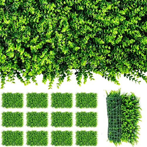 lowest Giantex 12PCS 24x16inch Artificial Boxwood Panels Garden Privacy Fence Screen, popular 32 Sq.ft Faux Greenery Wall outlet online sale Privacy Hedge for Wedding Decor Fence Backdrop, Patio Topiary Hedge Protective Screen outlet online sale