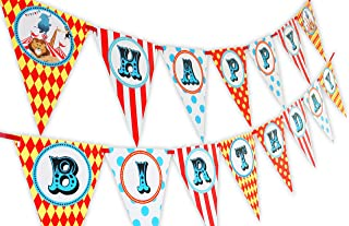 Big Top Circus Happy Birthday Banner Pennant