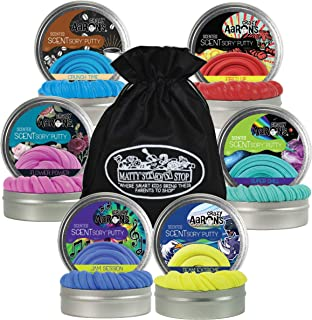 Crazy Aaron's Putty Vibes SCENTSory Tins Gift Set Bundle Featuring Crunch Time, Flower Power, Fired Up, Jam Session, Super...