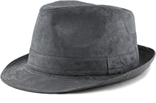 77e0133bd24b6 THE HAT DEPOT Faux Suede Wool Blend Trilby Fedora Hats