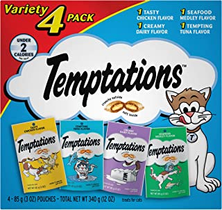 Temptations Treats for Cats Variety Packs, 3 oz. Pouches