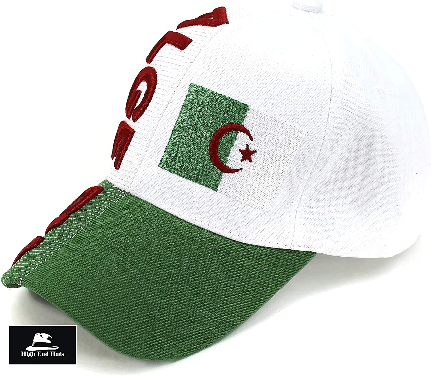 """Black High End Hats /""""Nations of Africa Hat Collection/"""" 3D Embroidered Adjustable Baseball Cap Egypt with Coat of Arms"""