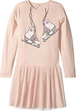 Stella McCartney Kids Primrose Skate Printed Dress w/ Tulle Skirt (Toddler/Little Kids/Big Kids)