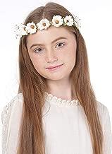 Flower Headband Wreath Boho Garland - Perfect for Wedding Festivals, Casual wears & Photography (daisy)
