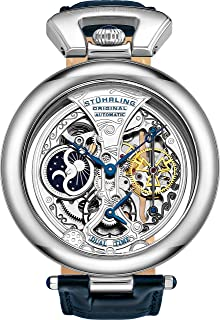 Stuhrling Mens Automatic Watch, Analog Display and Leather Strap 127A.3315C2