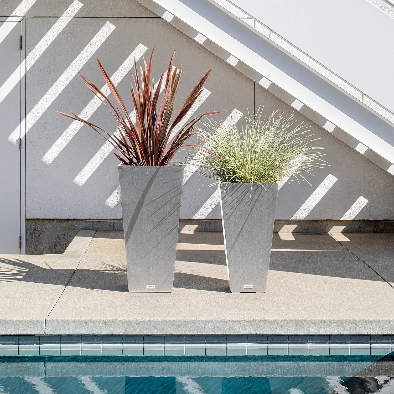 20+ Veradek V Resin Indoor/Outdoor Taper Planter, 8 Pack 86 inch, Grey Kollektion