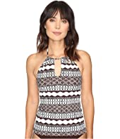 LAUREN Ralph Lauren - Primitive Stripe Halterkini Top
