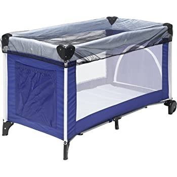 Thick, Blue LZYMSZ Baby Travel Bed Crib,Summer Portable Folding Baby Bed,Baby Cots Newborn Foldable Crib for 0-24 Month Baby Outdoors and Indoors