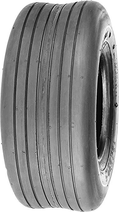 TWO New 13x6.50-6 SMOOTH RIB TIRES 4 Ply Tubeless for Garden Tractor Rider Mower