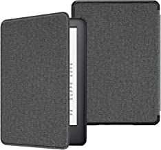 Fintie Slimshell Case for All-New Kindle (10th Generation, 2019 Release) - Premium Lightweight Protective PU Leather Cover with Auto Sleep/Wake for Amazon Kindle E-Reader (D-Gray)