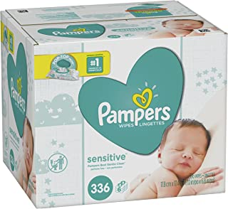 Baby Wipes, Pampers Sensitive Water Baby Diaper Wipes, Hypoallergenic and Unscented, 6X Pop-Top Packs, 336 Total Wipes