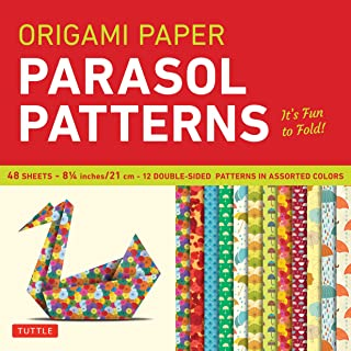 Origami Paper - Parasol Patterns - 8 1/4 inch - 48 Sheets: Tuttle Origami Paper: High-Quality Origami Sheets Printed with 12 Different Designs: Instructions for 8 Projects Included