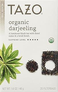 Tazo Organic Darjeeling Black Tea, 20-Count Tea Bags (Pack of 6)
