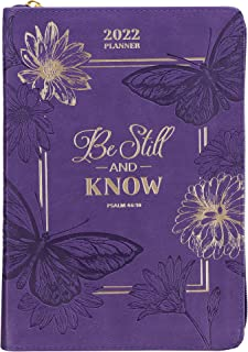 Christian Art Gifts 2022 Executive Planner w/Scripture Be Still and Know Psalm 46:10 Personal Organizer w/Daily Weekly Age...