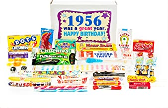 Woodstock Candy ~ 1956 63rd Birthday Gift Box Nostalgic Retro Candy Mix from Childhood for 63 Year Old Man or Woman Born 1956 Jr