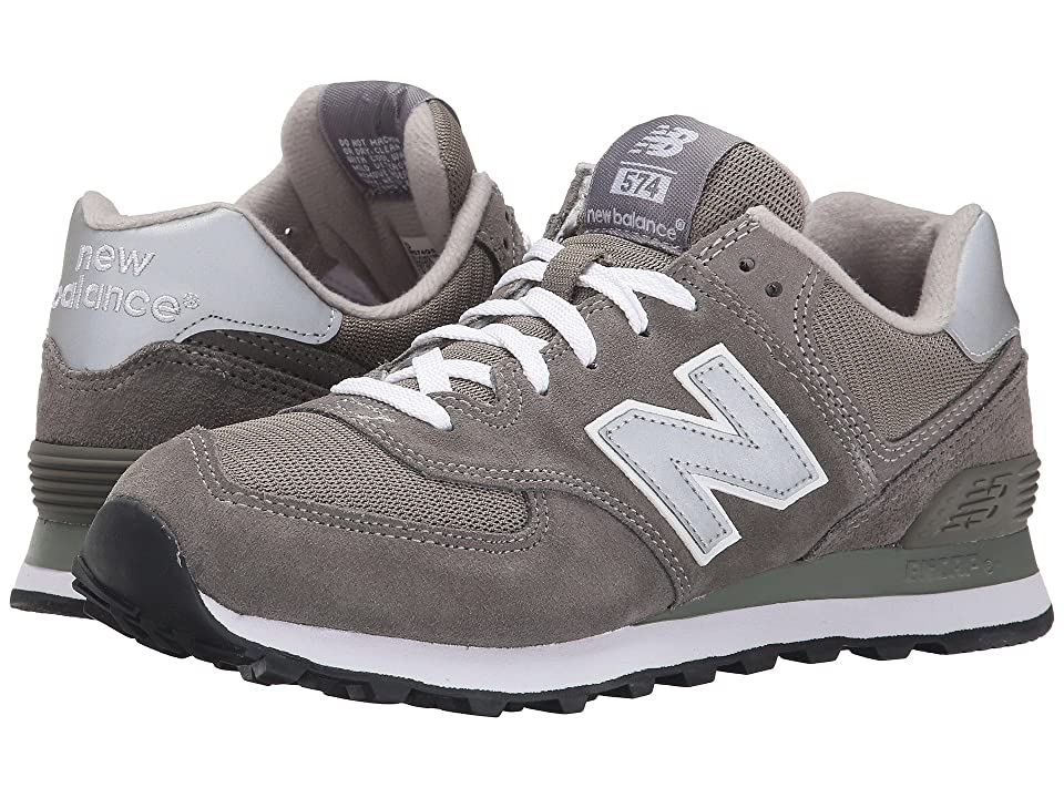 New Balance Classics M574 (Gray/Silver/White) Mens Classic Shoes