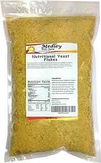 Nutritional Yeast Flakes 1 lb. Vegetarian Support Formula Medley Hills Farm