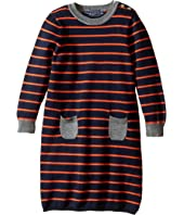 Toobydoo - Orange Stripe Sweater Dress (Infant/Toddler)