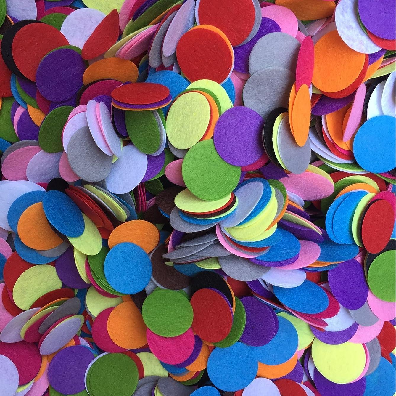 bluegarlic Round Felt Circles Felt Pads Mixed Color Felt for DIY and Sewing Handcraft (1.0