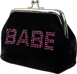 Damen Mädchen Weicher Velours Design Verschluss Münzfach/Tasche mit Diamonte Geschenk