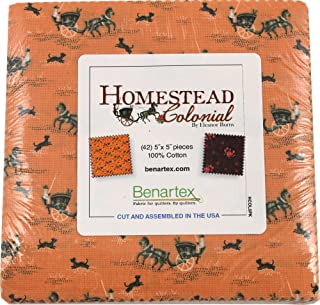 Eleanor Burns Homestead Colonial 5X5 Pack 42 5-inch Squares Charm Pack Benartex