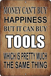 Rogue River Tactical Funny Mechanic Shop Metal Tin Sign Wall Decor Man Cave Bar Money Happiness Tools