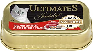 Ultimates Cat Pet Food Tuna with Shredded Chicken Breast and Prawns, 80 x 85g, 80 Piece