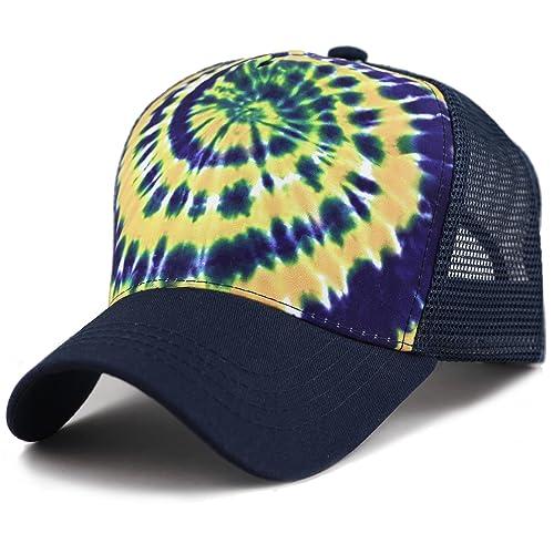 6c3d59ce53a7c THE HAT DEPOT Tie Dye Print Mesh Back Snapback Trucker Cap Hat