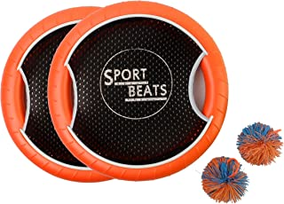 SPORT BEATS Outdoor Trampoline Paddle Ball Flying Discs for Family,2 Balls Included.