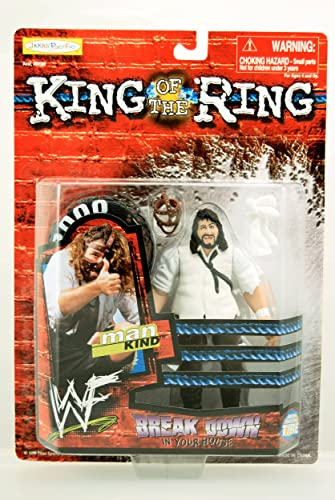 WWF   WWE King of the Ring Series - 1999 - Mankind Action Figure - RARE - Break Down in Your House - Body Twistin' Tire - Jakks - Limited Edition - Mint - collectible by Unknown