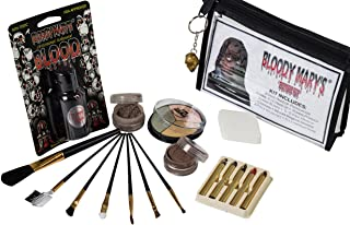 Zombie Makeup Kit By Bloody Mary - Halloween Costume Special Effects Palette - Walking Dead FX Makeup Tools - 5 Crayons, B...