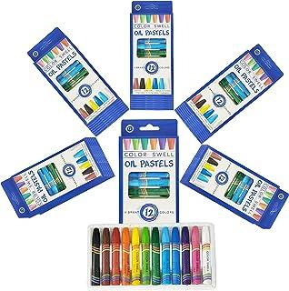Color Swell Bulk Oil Pastels 36 بسته از تعداد 12 رنگ پر جنب و جوش (432 عدد کل) کیفیت معلم با دوام برای خانواده های مورد علاقه حزب مهمانی