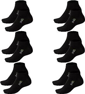 Pack de 6 calcetines unisex de bambú, perfectos para deporte y ocio, transpirables, antisudor, cintura cómoda sin goma, antiolores y antibacterianos