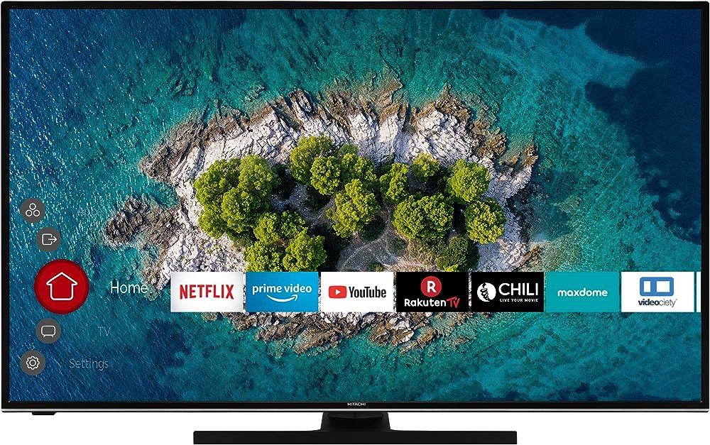 Hitachi tv 43 pollici  4k ultra hd, hdr10, dolby vision hdr, triple tuner, smart tv, funziona con alexa U43K6100