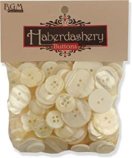 Buttons Galore Haberdashery Button, Ivory/Pearl