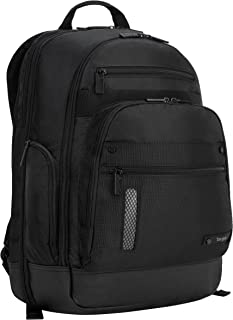 Targus Revolution Travel and Checkpoint-Friendly Laptop Backpack with Protective Sleeve for 15.6-Inch Laptop and Felted Phone Pocket, Black (TEB012US)