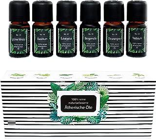 ätherische Öle Set WellTree, 100% naturrein, Aromatherapie, Massage, Sauna-Aufguss, Duftöl für Diffuser