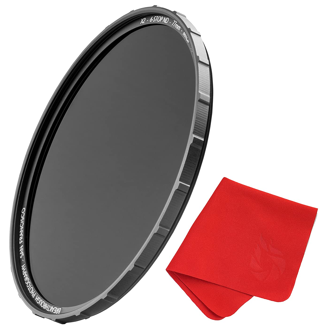 72mm X2 3-Stop ND Filter for Camera Lenses - Neutral Density Professional Photography Filter with Lens Cloth - MRC8, Nanotec, Ultra-Slim, Weather-Sealed by Breakthrough Photography