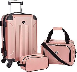 Travelers Club Sky+ Luggage Set, Rose Gold, 3 Piece