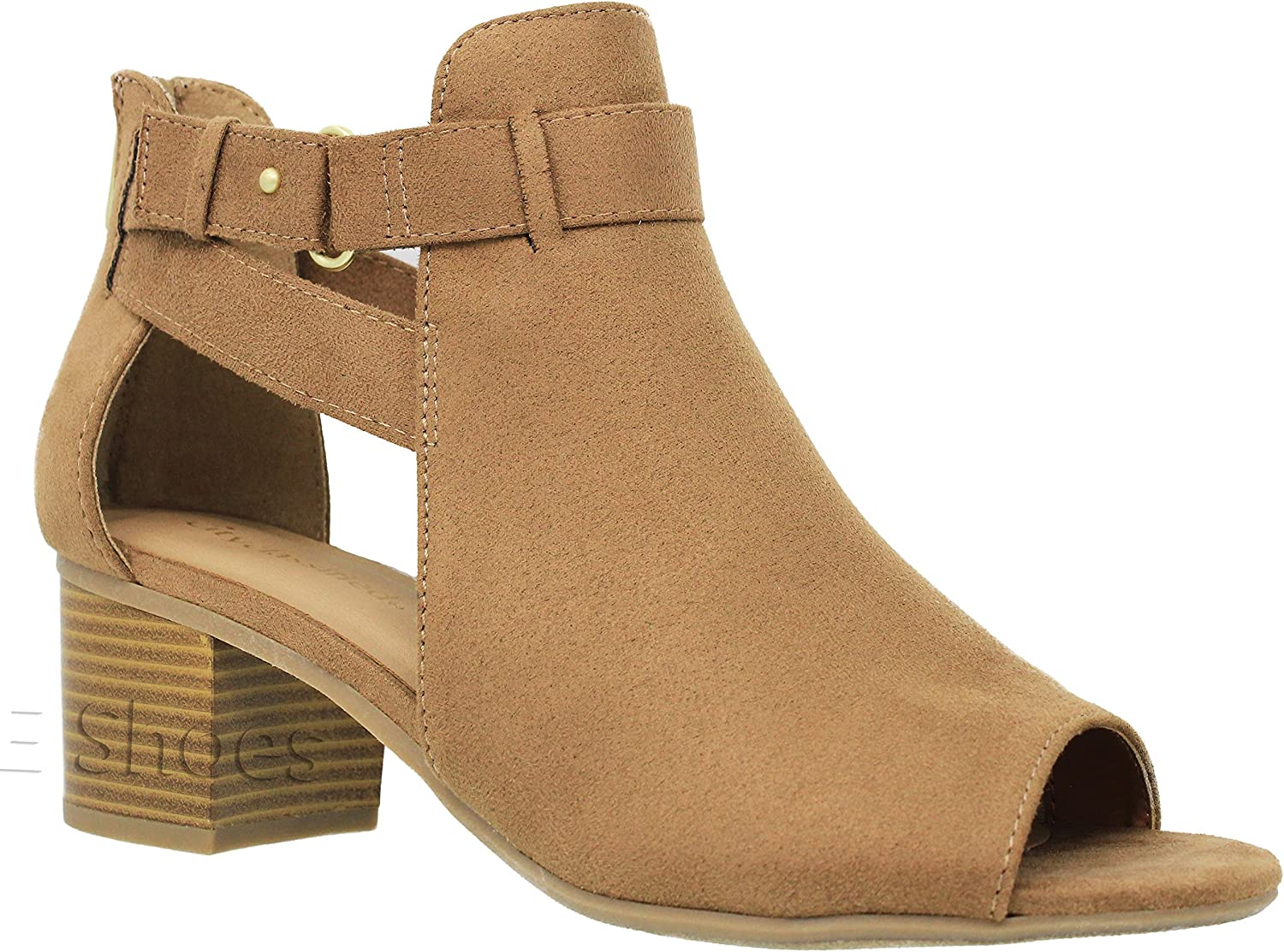 MVE Shoes Womens Stylish Comfortable Open San Out Heeled Mail order cheap Cut Toe Today's only