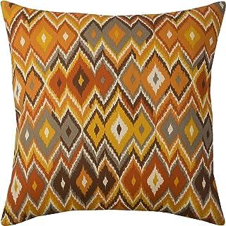 "Rizzy Home Throw Pillow, PILT05066CR001818, Orange, 22""x22"""