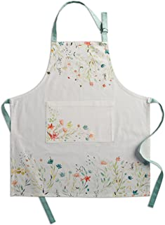 "Maison d' Hermine Colmar 100% Cotton 1 Piece Kitchen Apron with an Adjustable Neck & Visible Center Pocket with Long Ties for Women Men | Chef (27.50""x31.50"")"