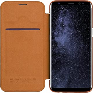 Nillkin Qin Flip Leather Case For Samsung S8, Brown