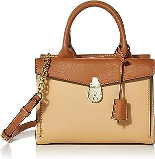 Calvin Klein Statement Series Lock Daytonna Leather Satchel
