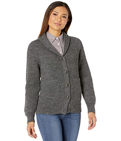 Filson Wool Wingham Island Cardigan (Black/White Melange) Women