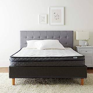 AmazonBasics Premium Foam Eurotop Mattress - CertiPUR-US Certified - 9-inch, Queen