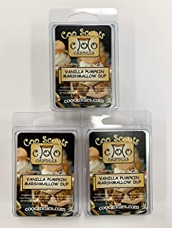 3 Pack Soy Wickless Candles Highly Scented Wax Melts - Vanilla Pumpkin Marshmallow Dup