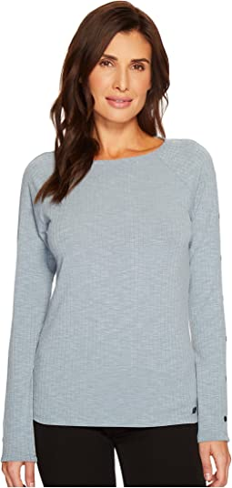 Ivanka Trump Knit Textured Long Sleeve Button Shirt